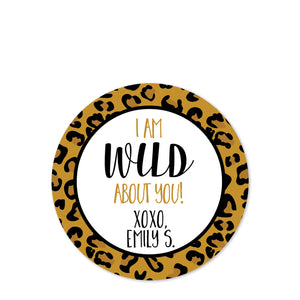 Cheetah Valentine's Day Stickers