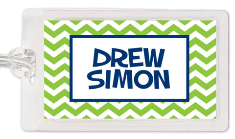 Chevron Boy Bag Tag