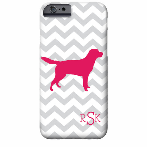 Monogrammed Dog Chevron iPhone Case | Swanky Press
