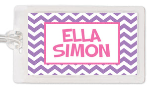 Chevron Girl Bag Tag