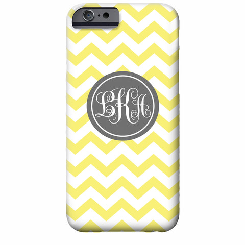 Monogrammed Chevron iPhone Case | Swanky Press