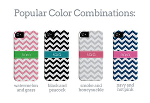 Chevron with stripe cell phone case