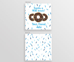 Donut Favor Tags, blue (DIY Templett)