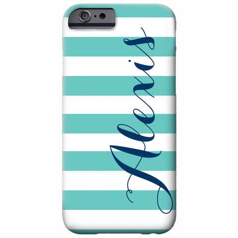 Chunky Stripe Personalized iPhone Case | Swanky Press