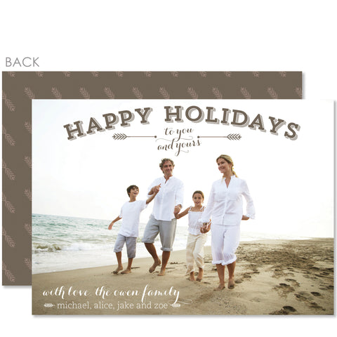 Classic Beach Holiday Photo Card