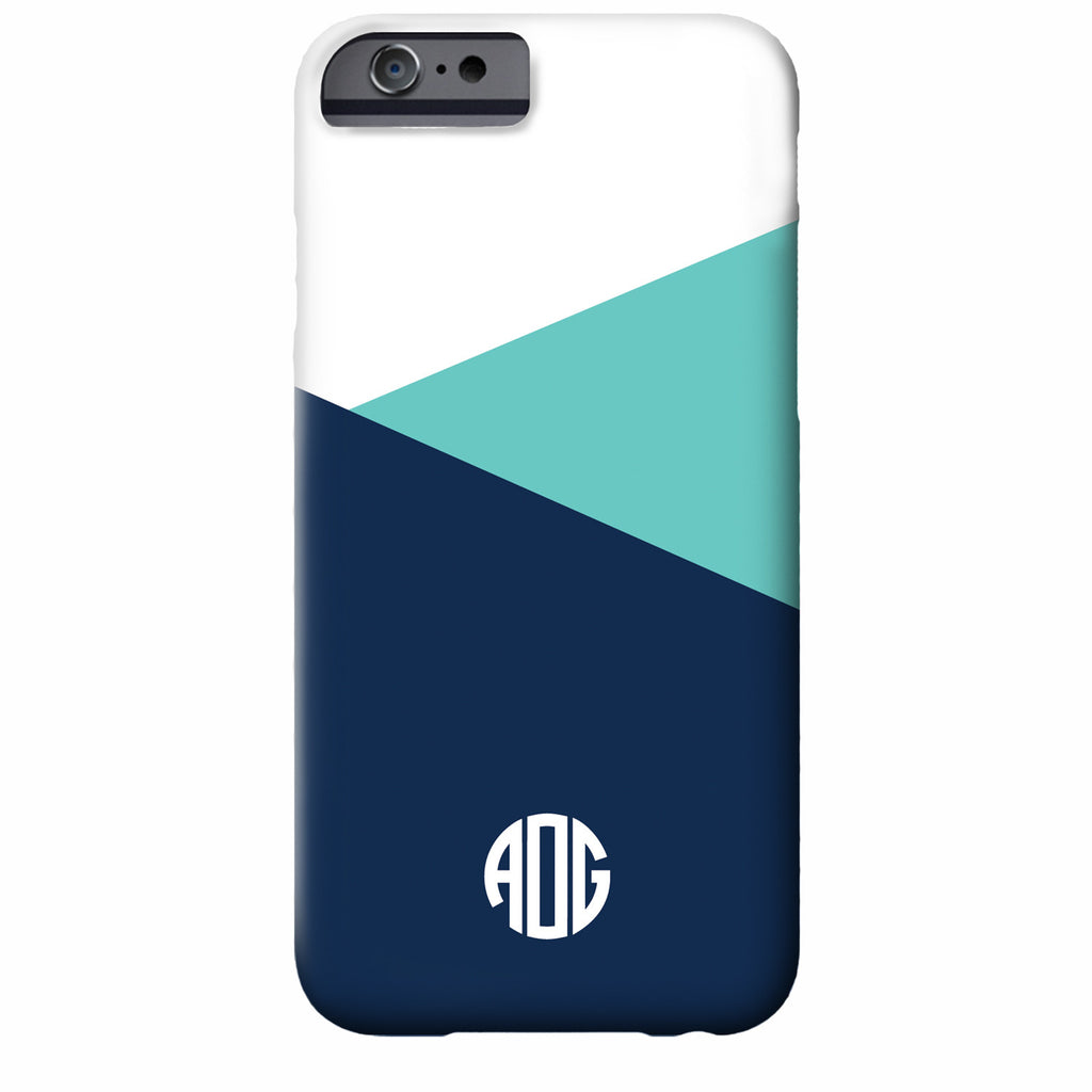 Monogrammed Color Block iPhone Case | Swanky Press