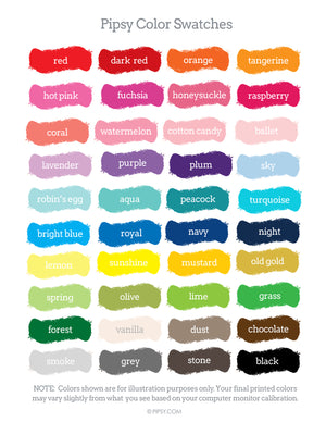 Customize your colors - Pipsy.com