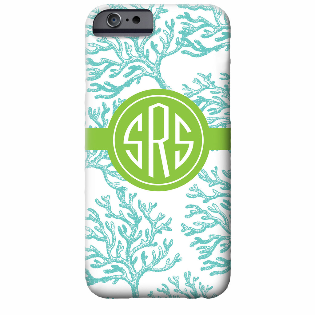Monogrammed Coral iPhone Case | Swanky Press