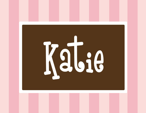 Cotton candy stripe with brown folded notecards