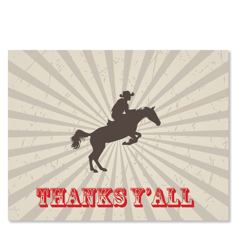Cowboy on a Horse Folded Notecards | Swanky Press