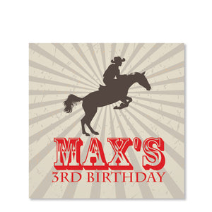 Cowboy and Horse Sticker | Swanky Press | Square