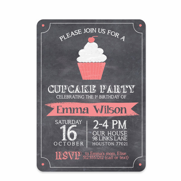 Cupcake Party Invitation | Swanky Press | Front