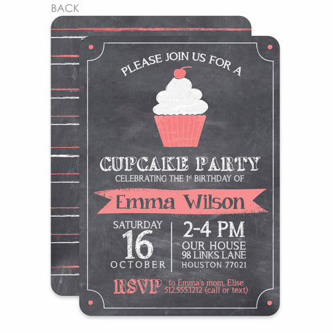 Cupcake Party Invitation | Swanky Press | Pink