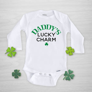 daddy's lucky charm onesie, long sleeved