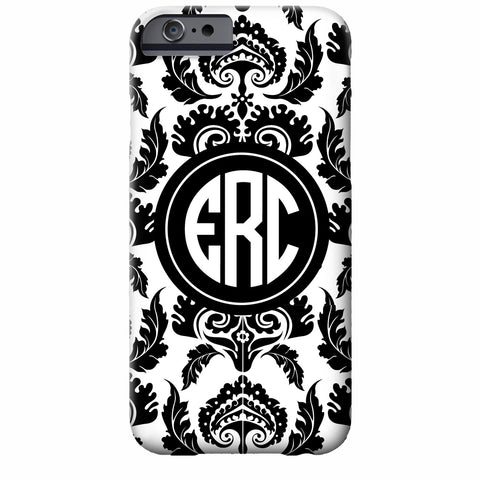 Monogrammed Damask iPhone Case | Swanky Pressr