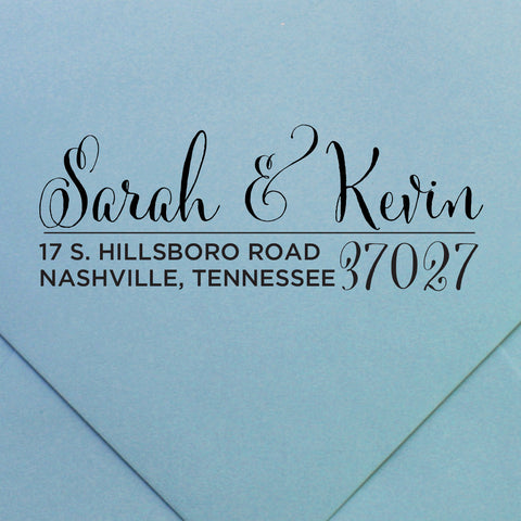 custom return address stamp by Swanky Press (design 33)