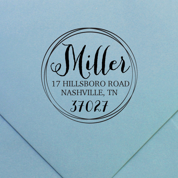 custom return address stamp | Swanky Press (design 36)