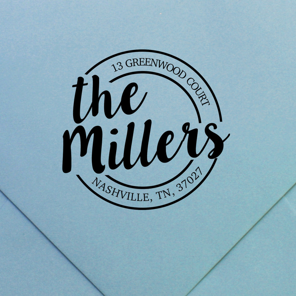 return address stamp | design 51 | Swanky Press