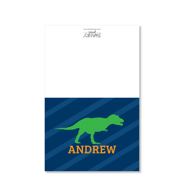 Dinosaur Party Folded Notecard | Swanky Press | Full