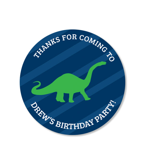 Dinosaur Party Favor Sticker | Swanky Press | Round
