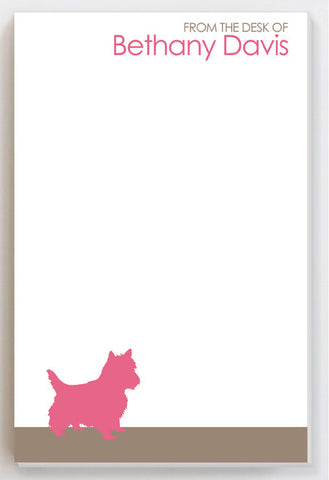 Dog Breed Personalized notepad