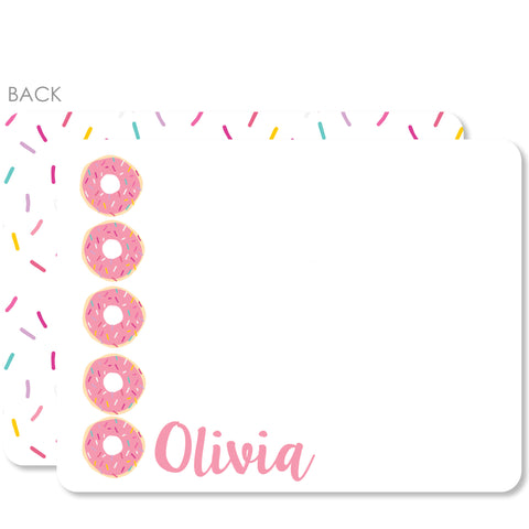 Donut Flat Notecards (Pink)