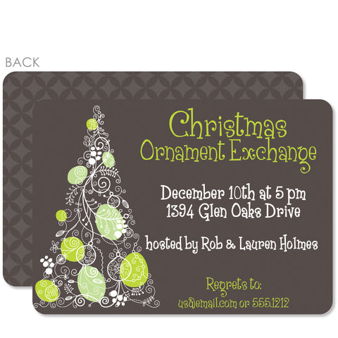 Doodle Christmas Tree Invitation