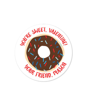 Matte round sticker | Label | Personalized for treat bags