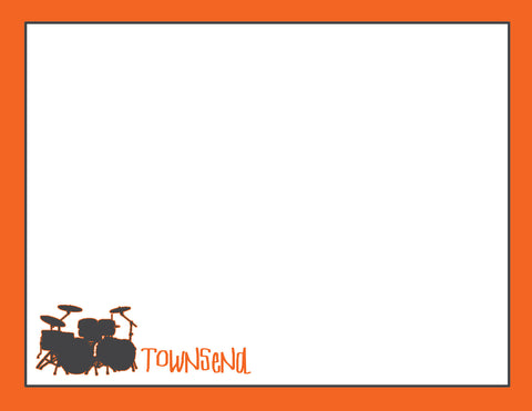 orange drums flat notecard