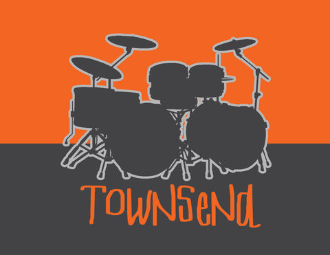Orange drumset