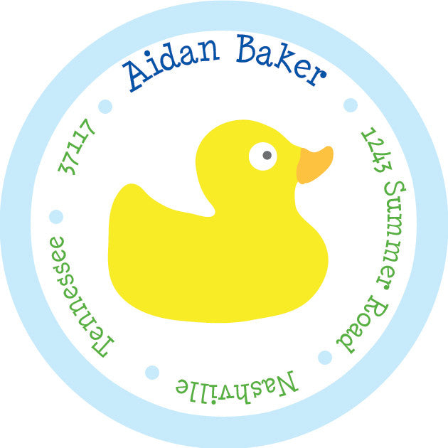 duck return address sticker