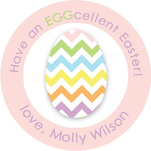 EGGcelent round stickers in pastels for Easter