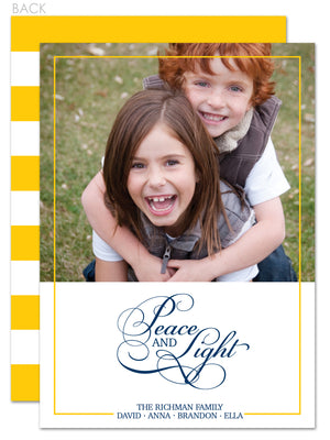 Elegance Hanukkah Photo Card | Swanky Press