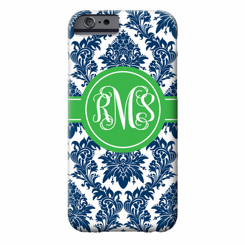 Elegant Floral Monogram iPhone Case | Swanky Press