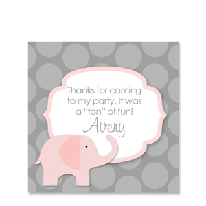 Pink Elephant Party Sticker | Swanky Press | Square