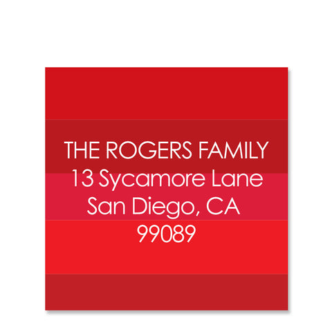 Family Stripes Return Address Sticker | Swanky Press | Square