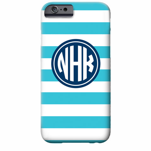 Monogrammed Striped iPhone Case | Swanky Press