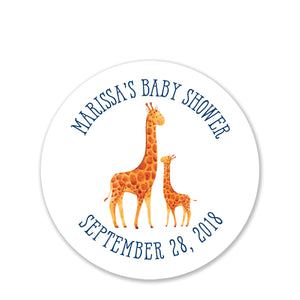 Giraffe Baby Shower Favor Stickers