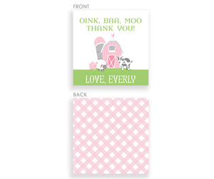 Farm DIY Favor Tags, (Pink)