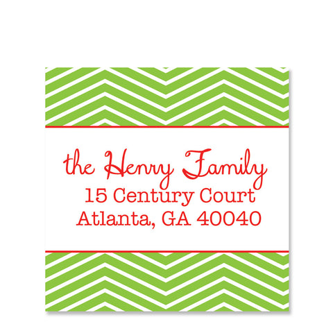 Festive Chevron Return Address Stickers