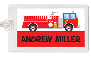 Fire Truck Bag Tag