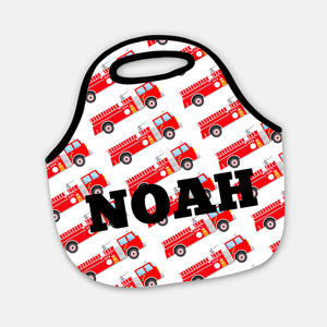 Swanky Press | Neoprene Firetruck Tote Bag | Pipsy | fireman