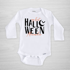 My First Halloween Personalized Gerber Onesie, long sleeved