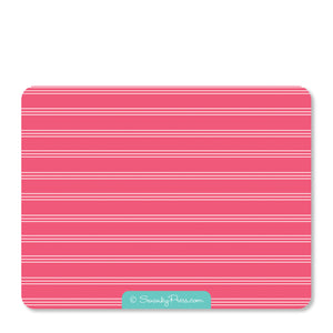Pink Flamingo Party Flat Notecard | Swanky Press | Back