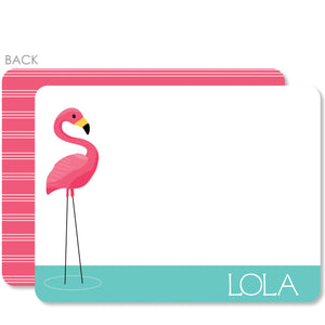Flamingo Party Flat Notecard | Swanky Press | Pink & Aqua