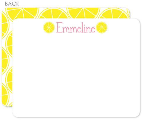 Lemonade stand flat notecards
