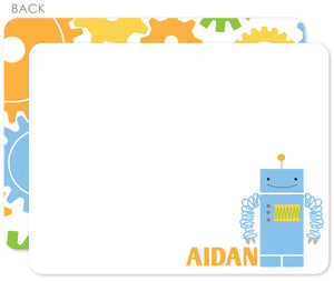 Robot flat notecards by Swanky Press