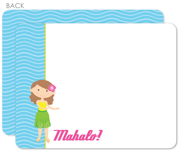 Luau flat notecard/thank-you note