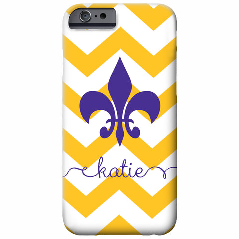 Fleur de Lis Chevron iPhone Case | Swanky Press