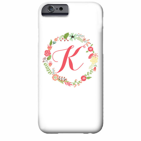 Floral Wreath Personalized iPhone Case | Swanky Press